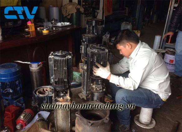 Sửa lỗi máy bơm trục đứng Matra chạy bị nóng