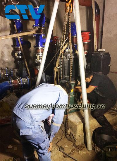 Khắc phục sự cố xảy ra đối với các máy bơm chìm nước thải Tsurumi