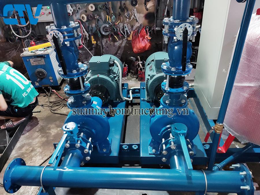 Lắp đặt hệ thống máy bơm tăng áp  công nghiệp chuyên nghiệp tại Hà Nội